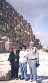 Ken and Margaret with Avril at the Step Pyramid