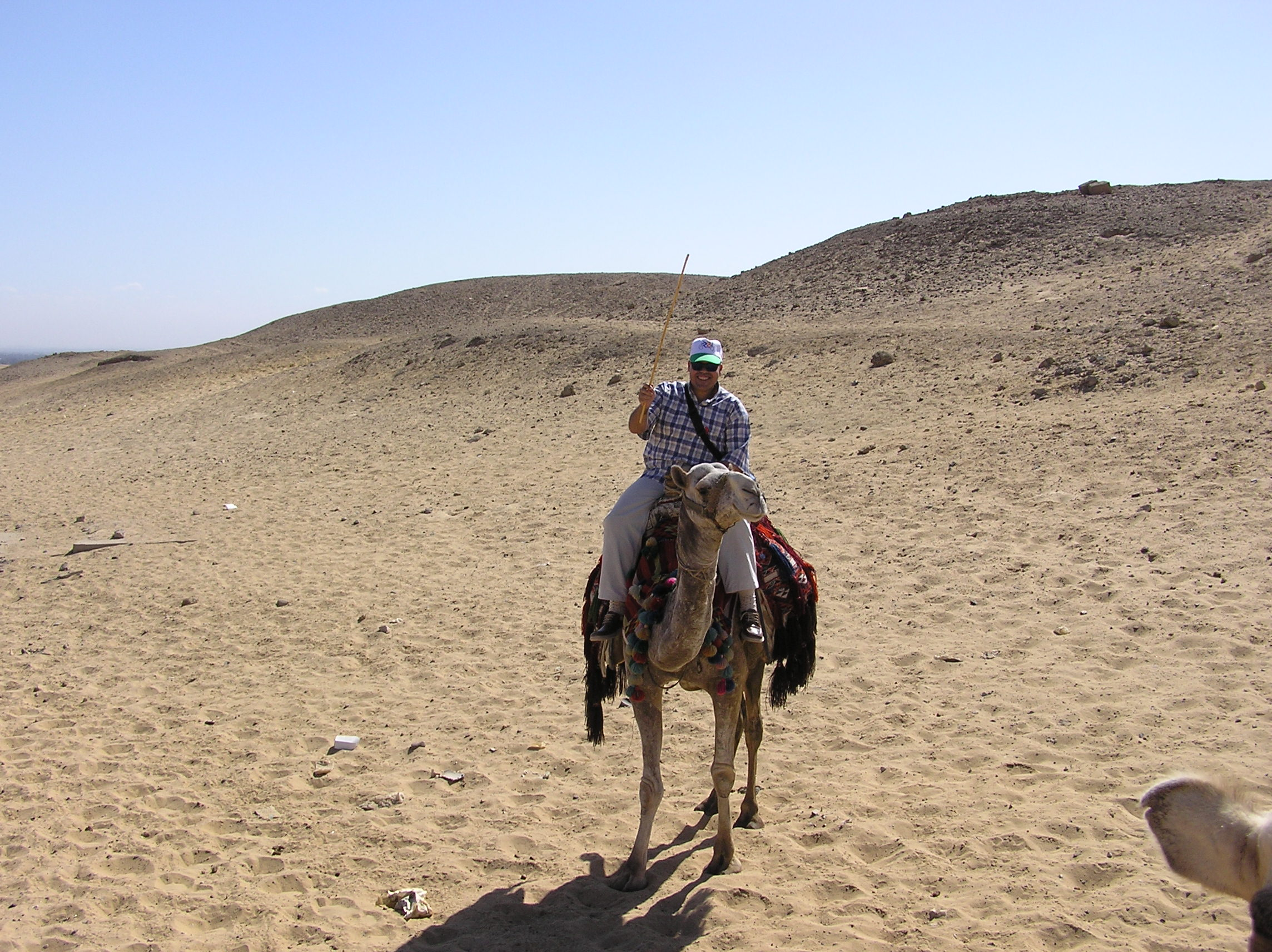 Khaled on camel